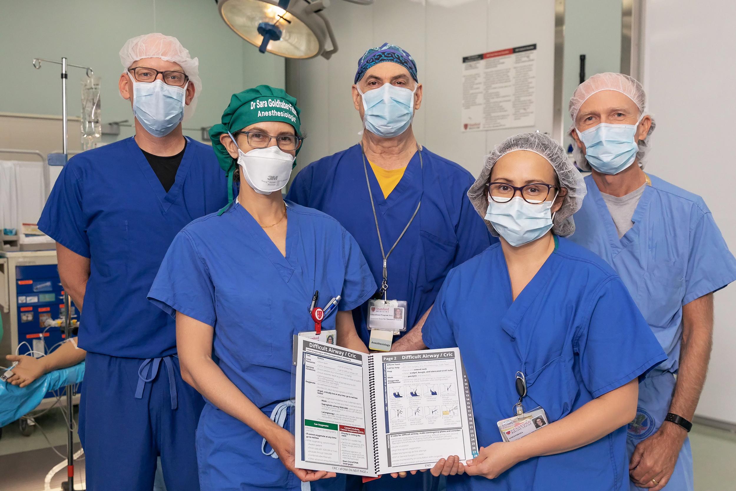 ER Manual Team Members L to R: K Harrison, S Goldhaber-Fiebert, D Gaba, N Austin, S Howard